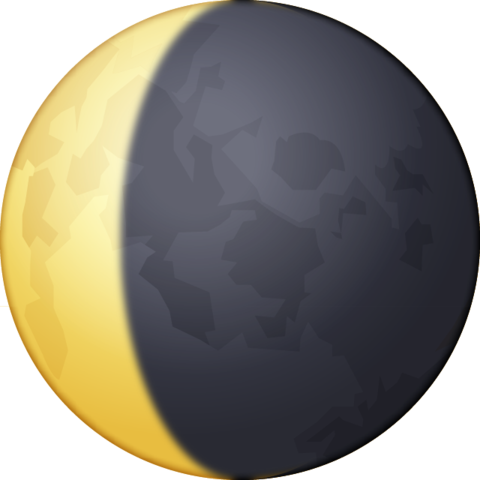 Crescent moon emoji png. Download waning image in