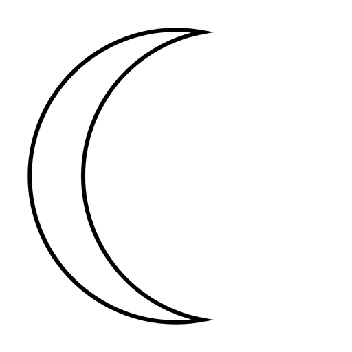crescent vector thin