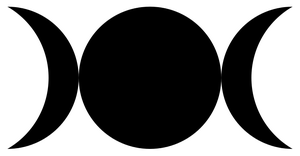 Crescent vector celtic moon. Symbolism daphneshadows triple goddess