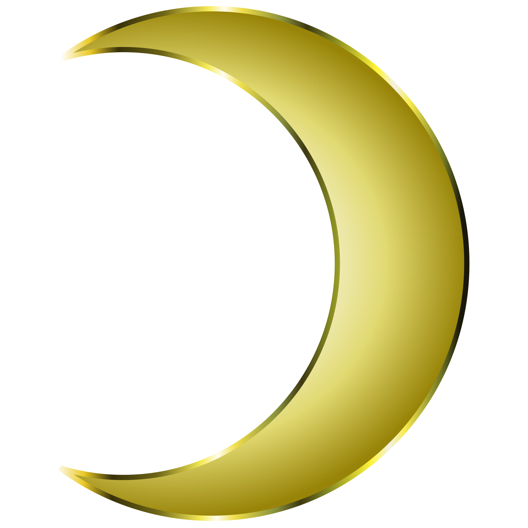 Crescent vector gold. Image freeuse library