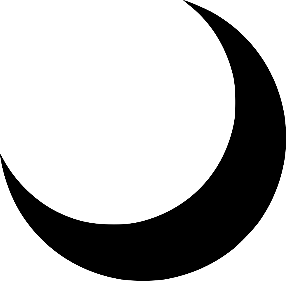 Crescent vector half moon. Svg png icon free