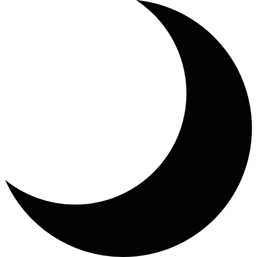 Crescent vector moon. Free icon png download