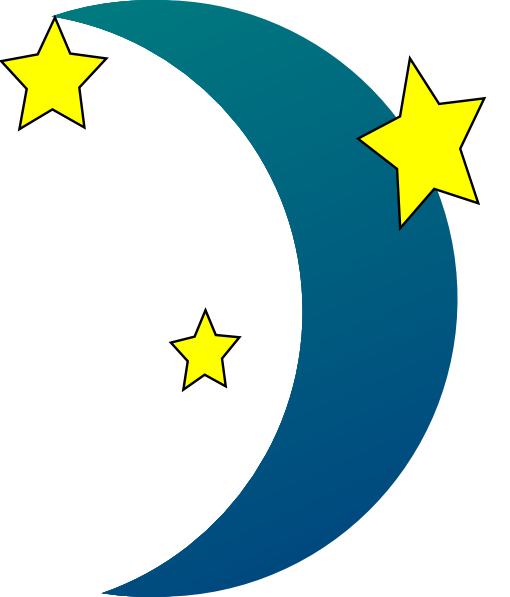 Crescent vector moon star. N stars clip art