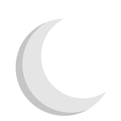 Crescent vector eclipse moon. Flat icon transparent png