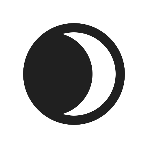 Crescent vector waxing. Moon fog icon png