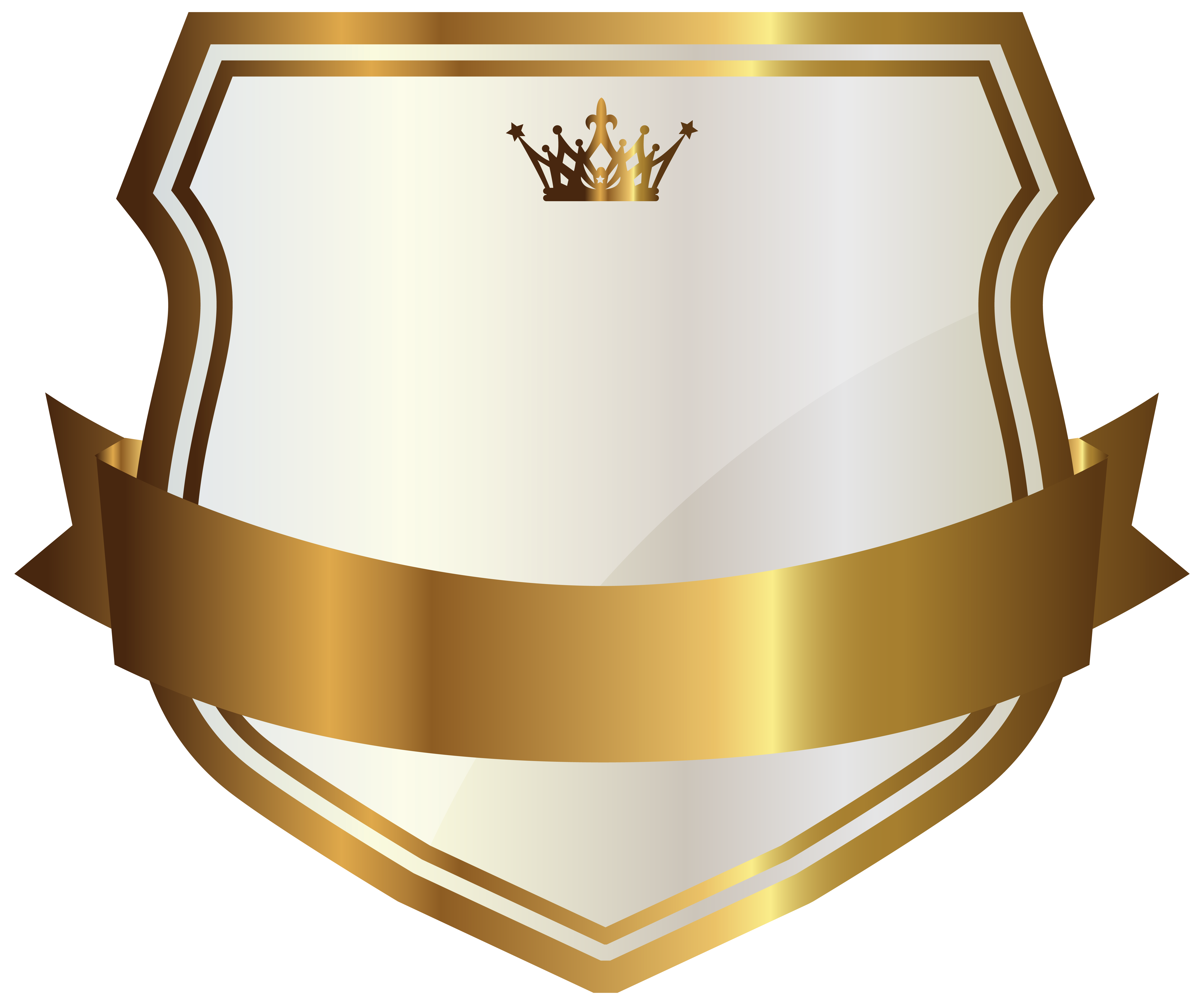 White label with gold. Crest banner png svg free