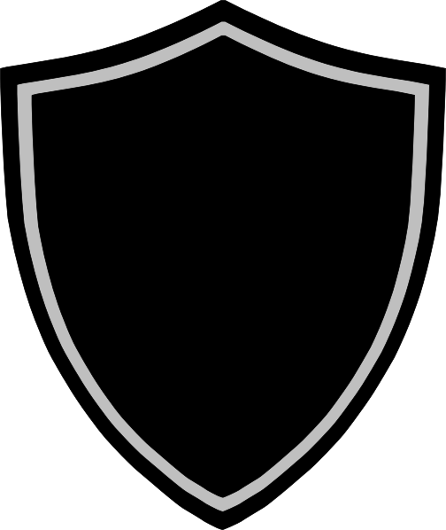 Crest border png. Black and white clip