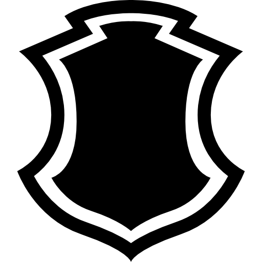 Shield shape with free. Crest border png clipart download