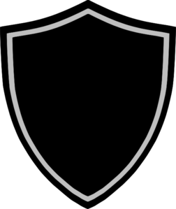 Crest png. Black and white border