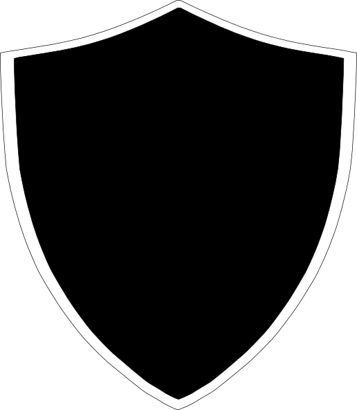 Black clip art at. Crest png freeuse