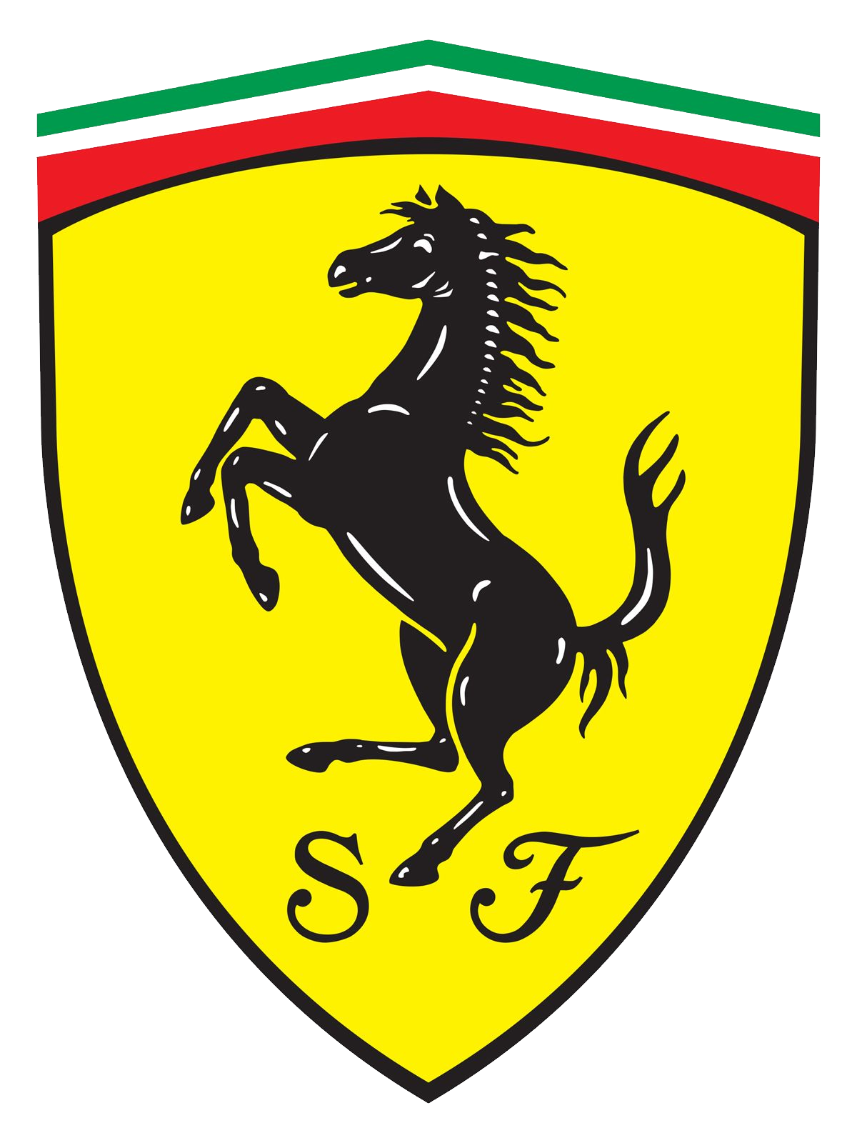 Ferrari logo image . Crest png clear background picture transparent stock