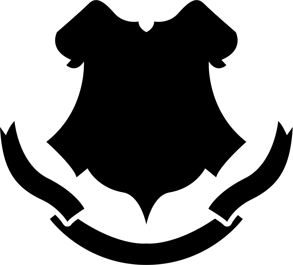 Crest shapes png. Shield black shape with