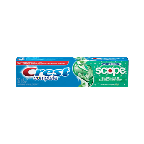 Crest toothpaste png. Complete whitening scope plus