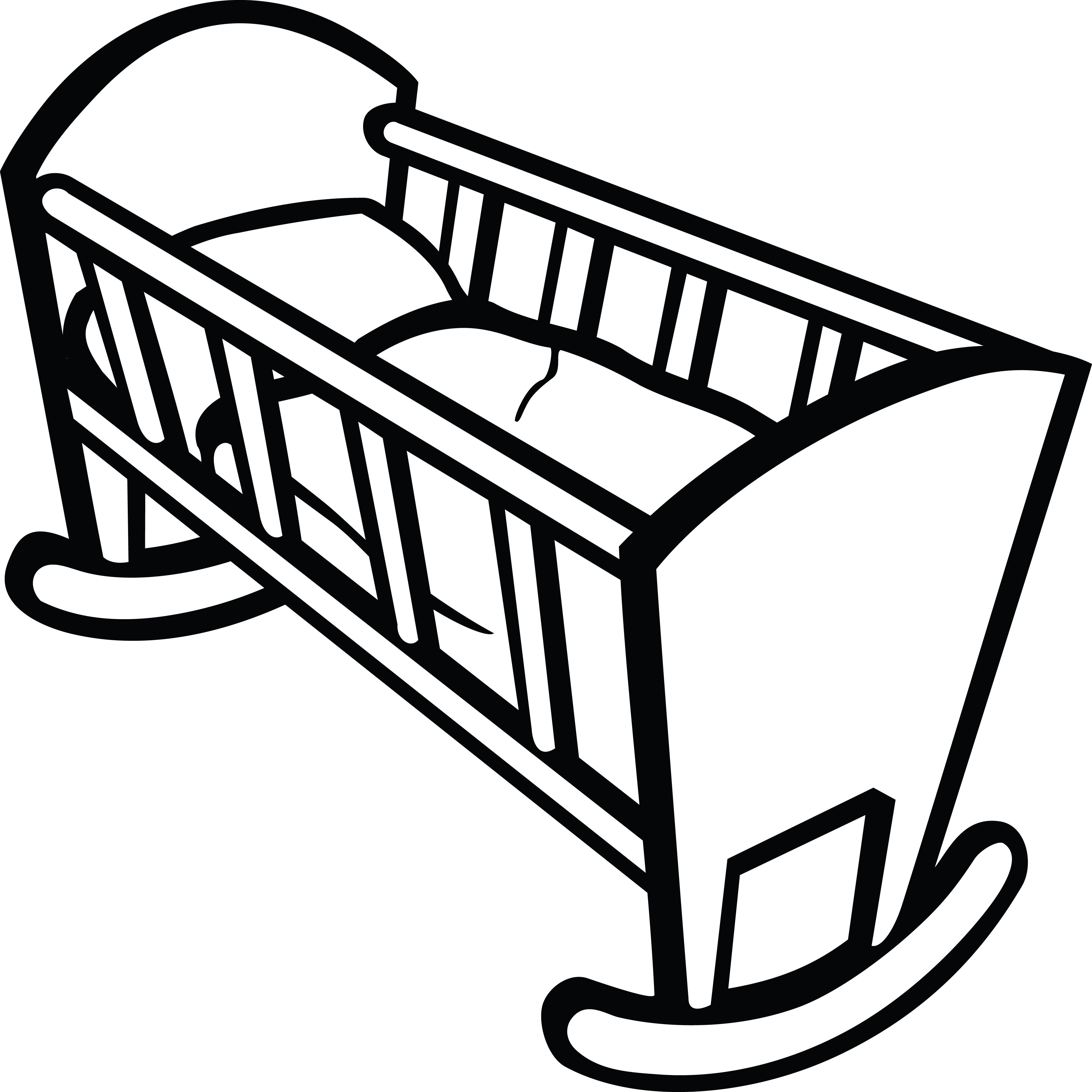 Crib clipart. Of a baby pinterest