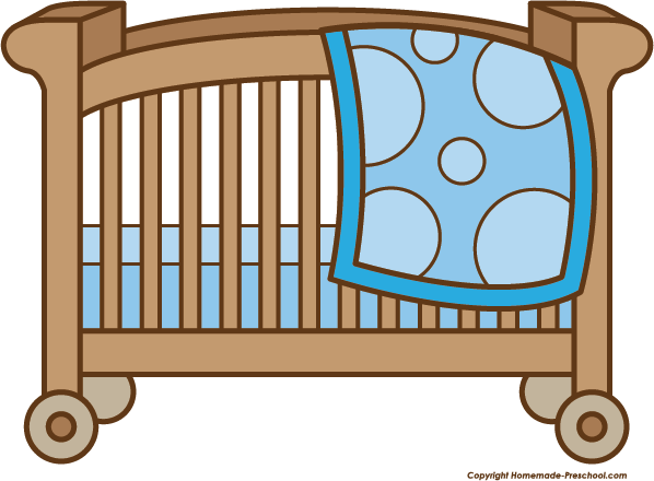 crib drawing baby bottle