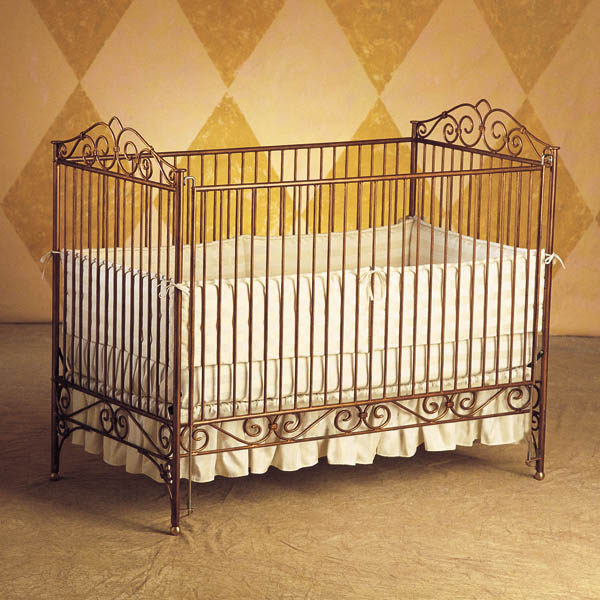 Crib clipart metallic. Bratt decor baby cribs