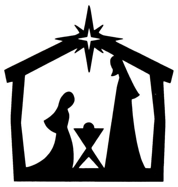 Manger free at getdrawings. Crib clipart silhouette jpg freeuse