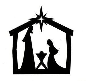 Christmas image result for. Crib clipart silhouette freeuse library
