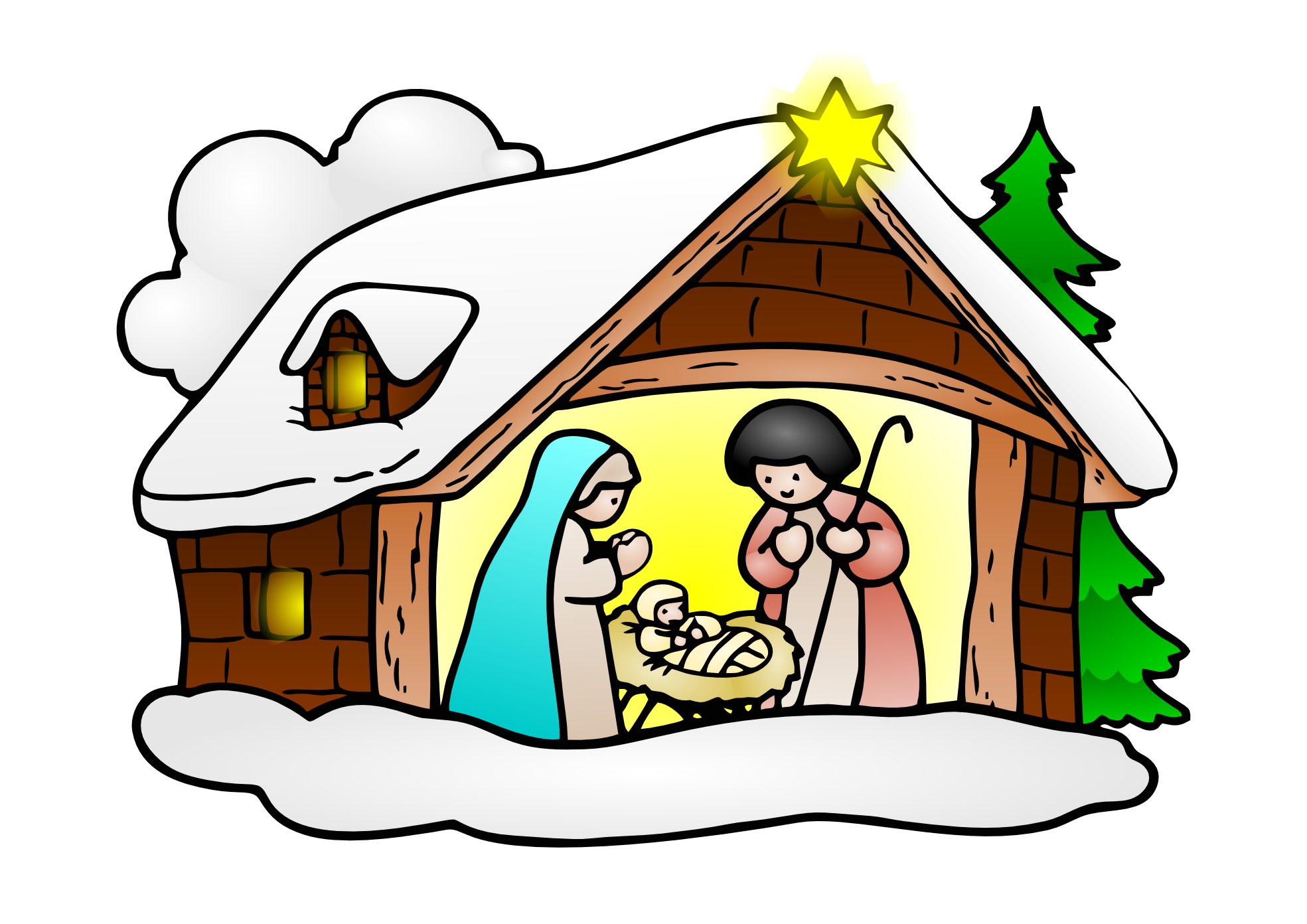 Crib drawing animated. Cartoon baby jesus group