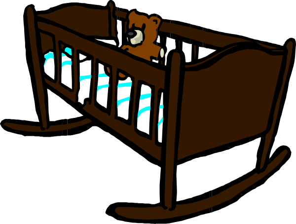 Crib drawing baby bed. Collection of free cribbed