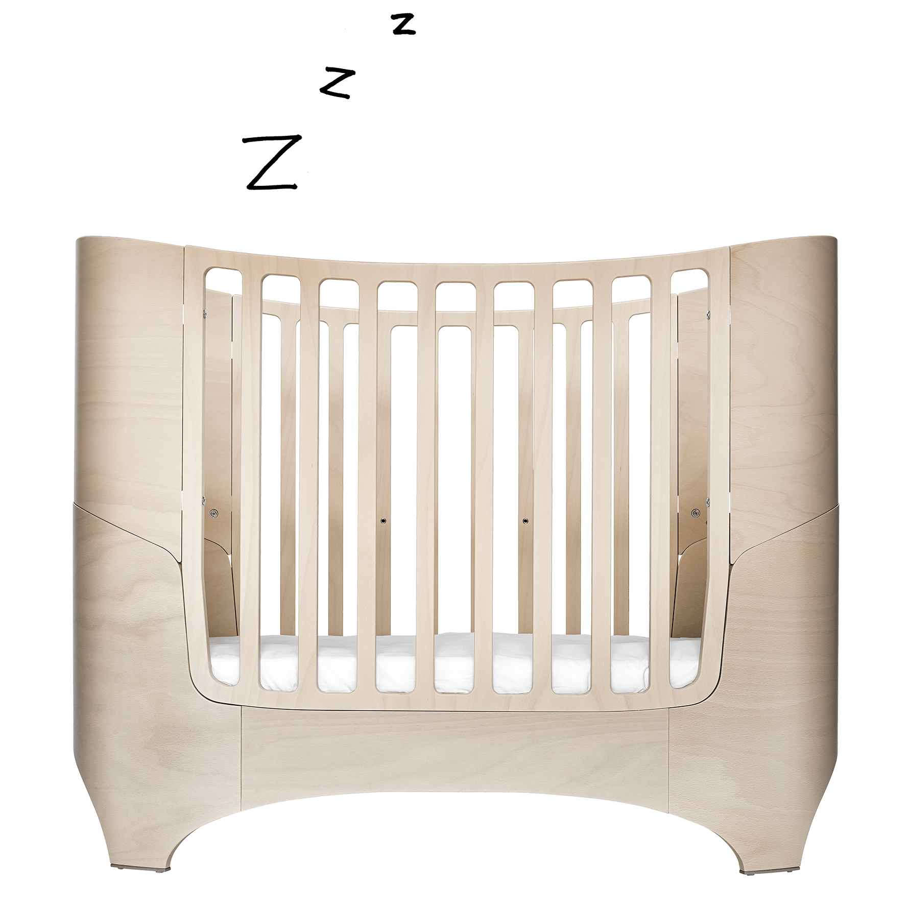 Crib drawing baby cot. Leander a good bed