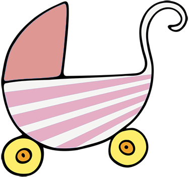 Crib drawing baby dummy. Free clipart animations pink