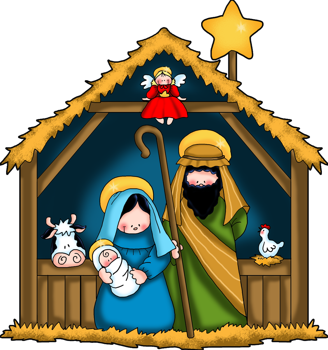 Collection of free cribbing. Crib drawing christmas graphic black and white stock