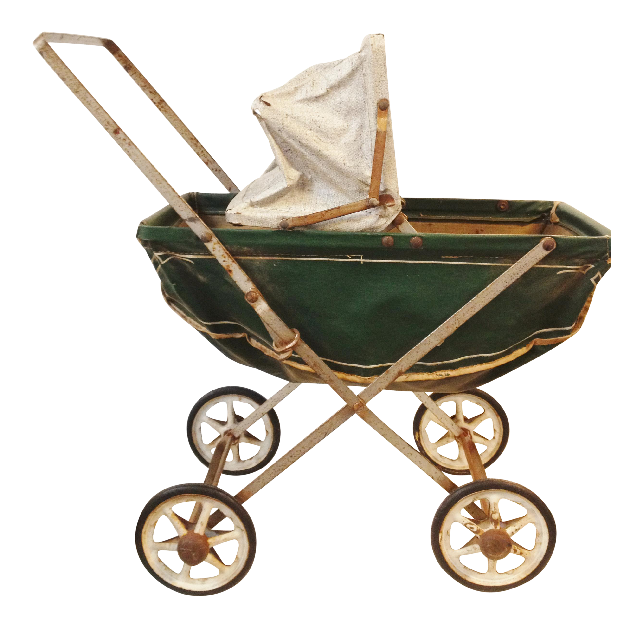 Crib drawing diy baby doll. Vintage toy stroller pram