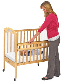 Crib drawing wooden. Cribs accessories buyer s