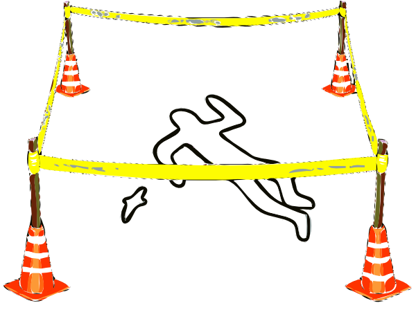crime scene chalk outline png