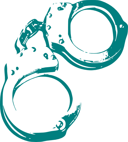 Crime clipart transparent. Green handcuffs clip art