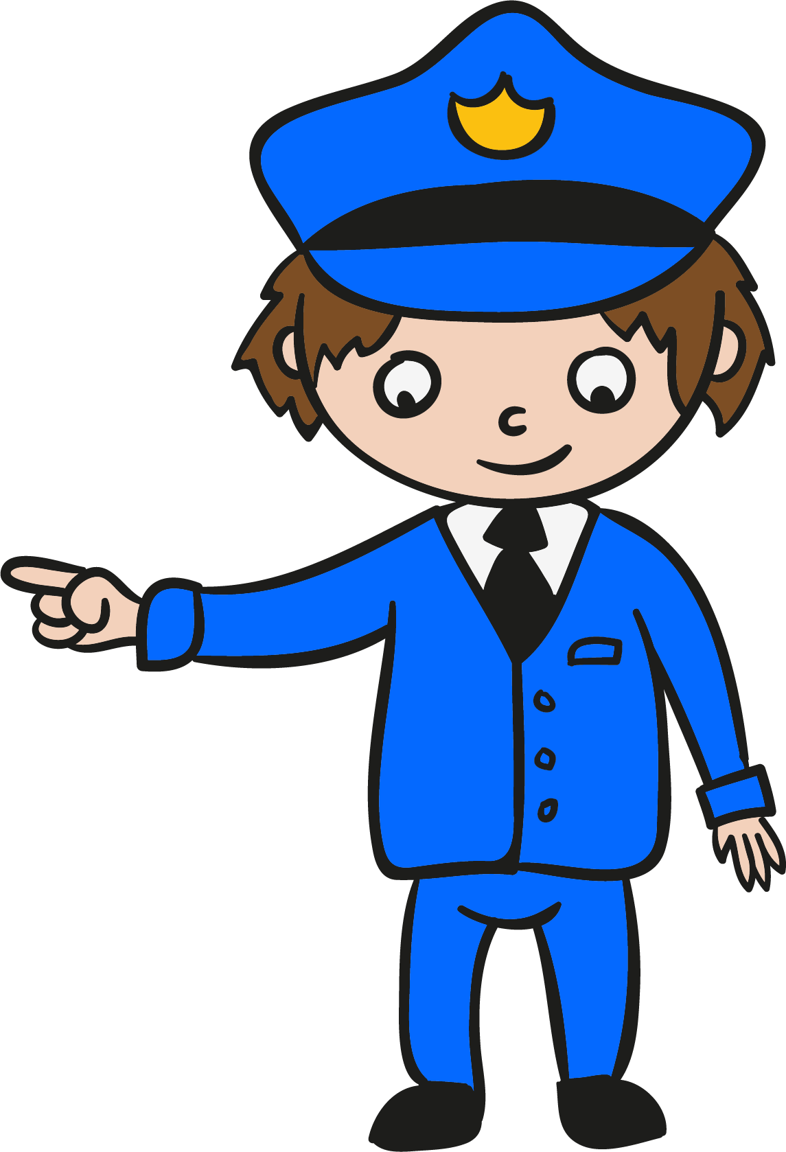 Lost vector person clipart. Police officer clip art