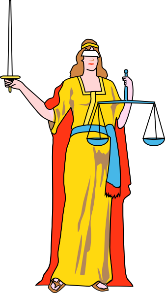 Justice vector statue. Free picture of blind