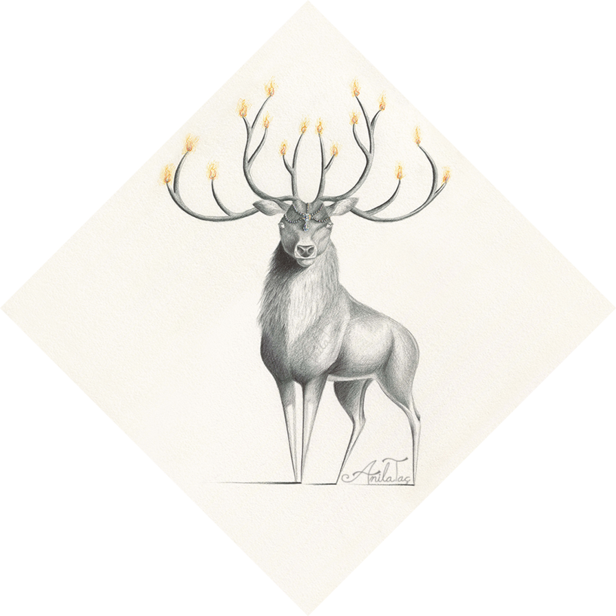 Raindeer drawing eye. Moonwalkinghorse deviantart chandeerlier w