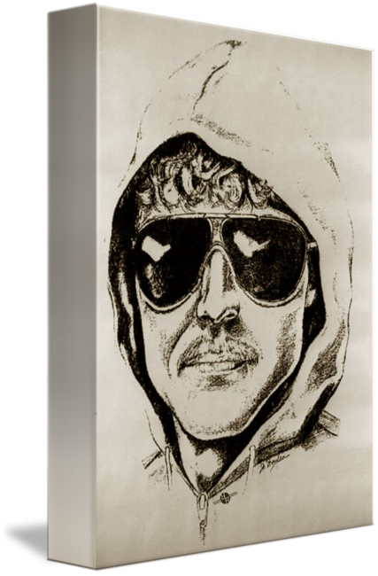 Criminal drawing wanted poster. Unabomber ted kaczynski by