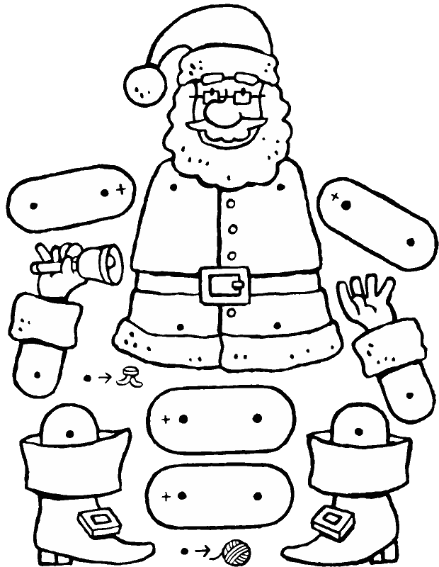 Cristmas drawing. Father christmas at getdrawings