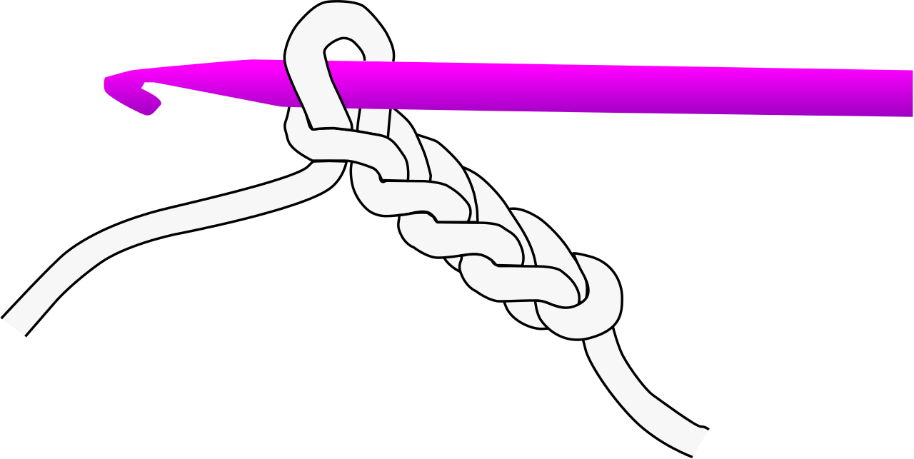 Crochet svg. File chain wikipedia filecrochetchainsvg