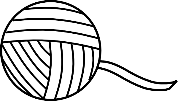 Crochet vector yarn ball. Knitting coloring pages of
