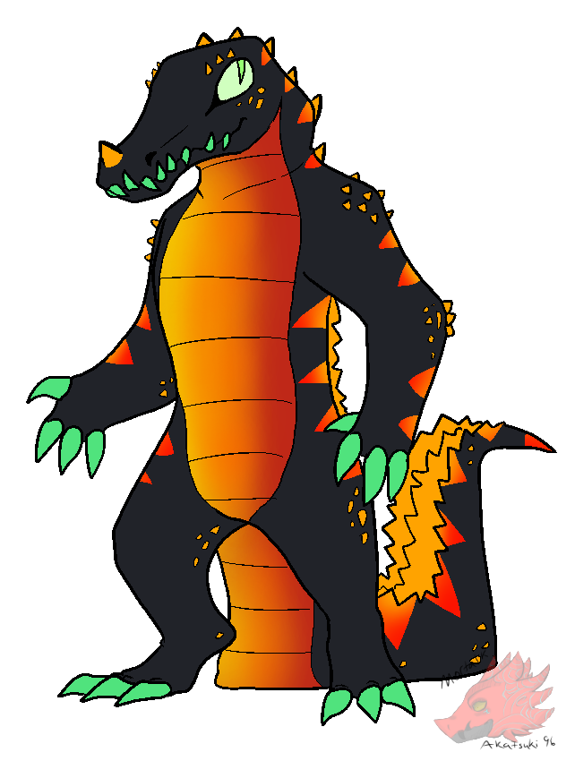 Crocs drawing pin. Fire croc ref by