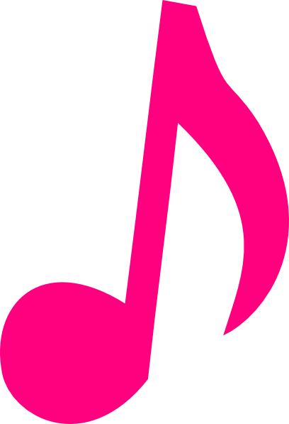 Cross and music notes png. Pink clip art note