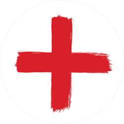 Cross brush png. Stroke red sticker