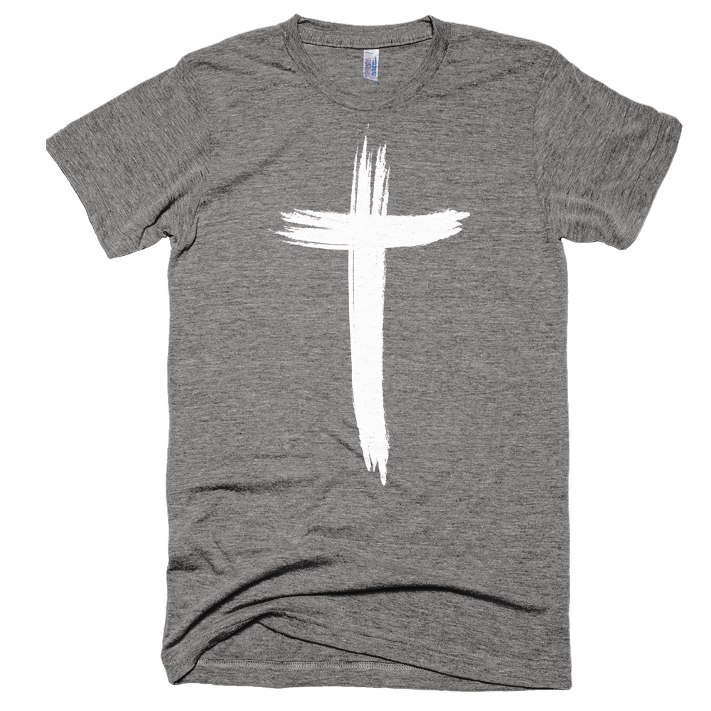 Cross brush png. Heather grey t shirt