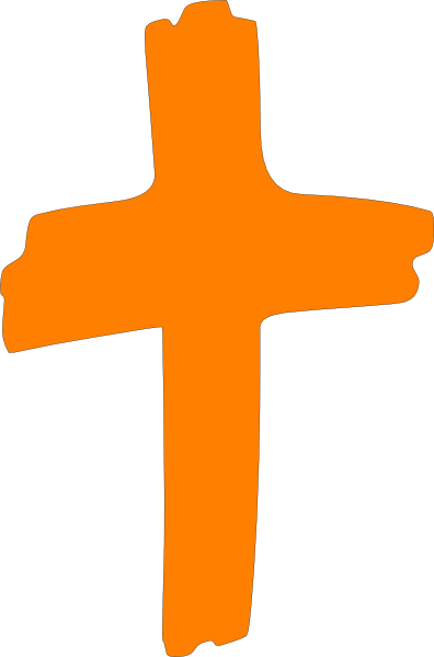 Cross brush png. Orange clip art at