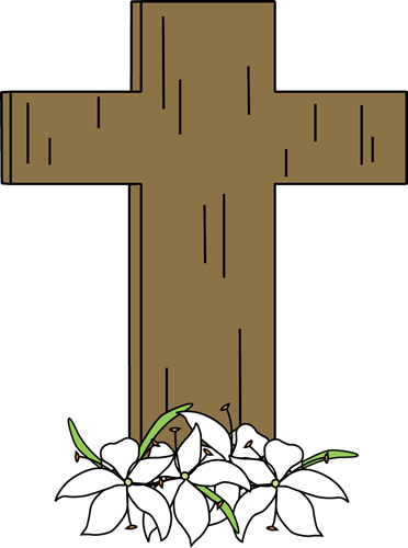 Cross clip easter. And lilies art image