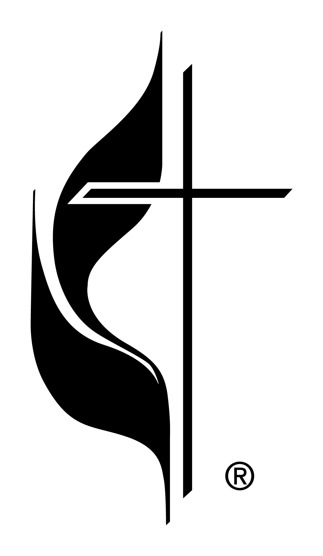 Flame the united methodist. Cross clipart black and white png svg freeuse stock