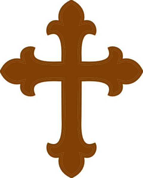 Christian vector fancy cross. Free brown cliparts download