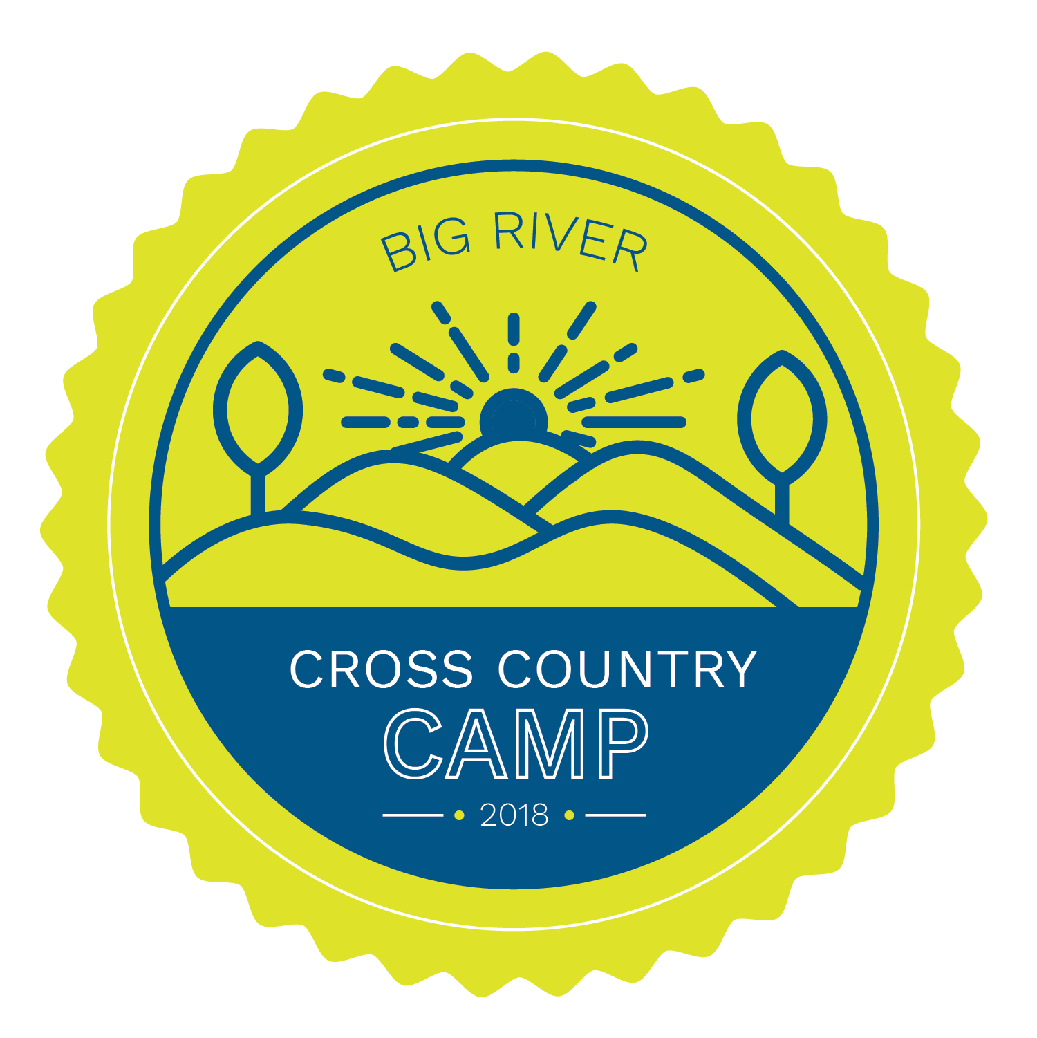 Cross country symbol png. Camp big river running