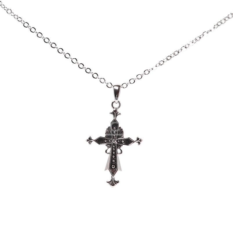 Cross necklace png. Ornate medieval ccj by