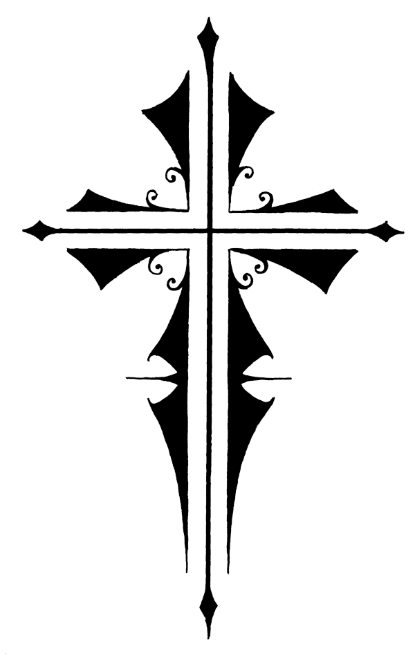 Cross tatto transparent stickpng. Cruz png png black and white stock