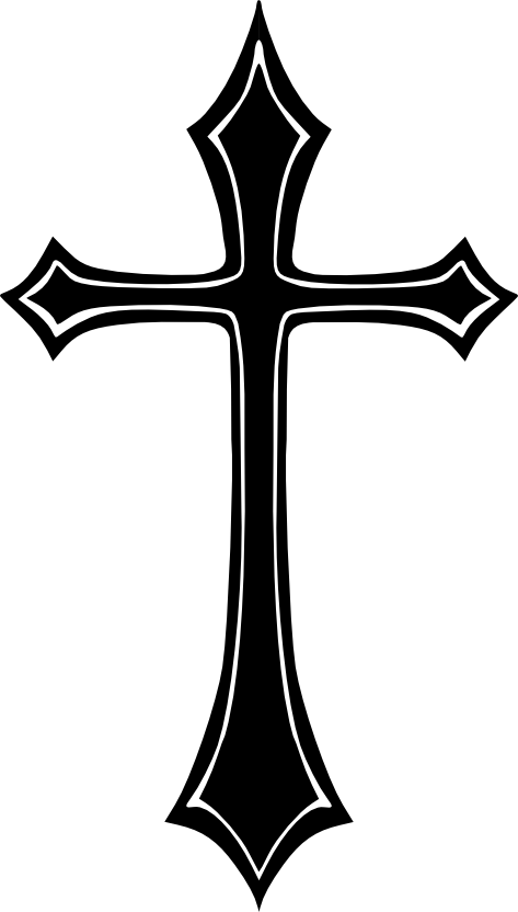 Crucifix vector salib. Gothic cross home pinterest